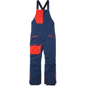 Marmot Smokes Run Bibs Hombre, arctic navy/victory red